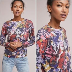 BOGO! Anthropologie Maeve Kimmie Floral Knit Pullover Sweater